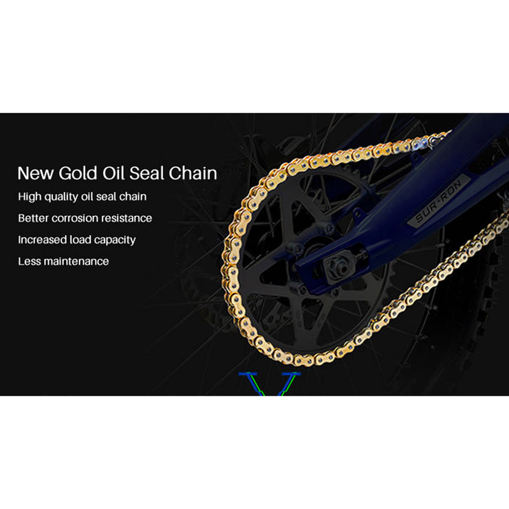 Sur-Ron Gold Original Heavy Duty O-Ring Roller Chain (106 links)