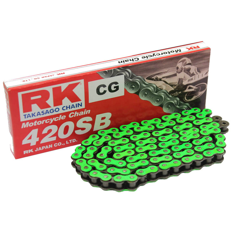 RK Green Chain 420 SB 106 For Sur-Ron LB X & L1E (48t Rear Sprocket Standard Gearing)