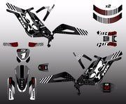 Full Gas 'N' Roll Red & Black Decal Kit (Chassis + Battery + Handlebar + Rims)