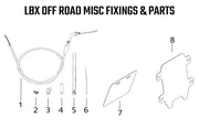 LBX Off Road Misc Fixings & Parts
