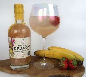 *Yorkshire Dragon Banana And Strawberry Gin  - The Fairytale Gin - Yorkshire Fairytale Gin, Unique Flavoured Gins with Sparkles