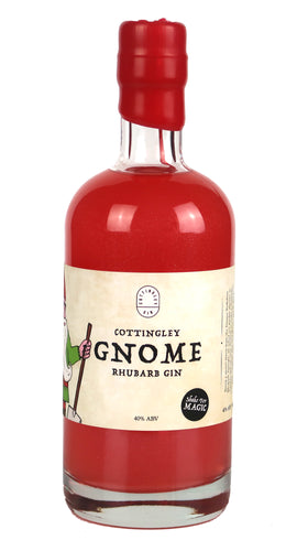 Cottingley Gnome Rhubarb Gin - The Fairytale Gin - Yorkshire Fairytale Gin, Unique Flavoured Gins with Sparkles