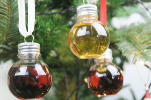 Rum Liqueur Filled Booze Baubles pack of 3 x 50ml