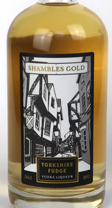 Yorkshire Fudge Liqueur -  SHAMBLES GOLD - Yorkshire Fairytale Gin, Unique Flavoured Gins with Sparkles