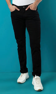 11983 Basic Slim Fit Gabardine Pants - Black