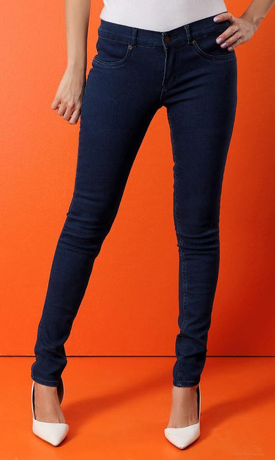 12437 Casual Skinny Leg Jeans - Blue