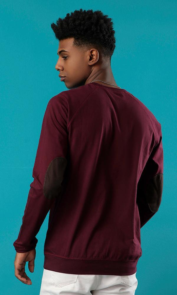 raglan sleeves-elbow patch-long sleeves t-shirts