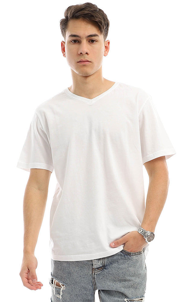 Basic V-Neck T-Shirt-Short Sleeves