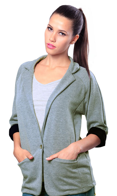 21302 Heather Grey Cotton Jacket