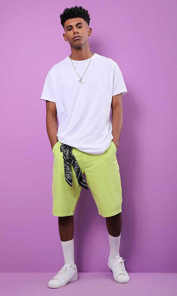 casual short - lime green