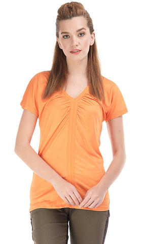 27515 Polyester Plain T-Shirt - Orange