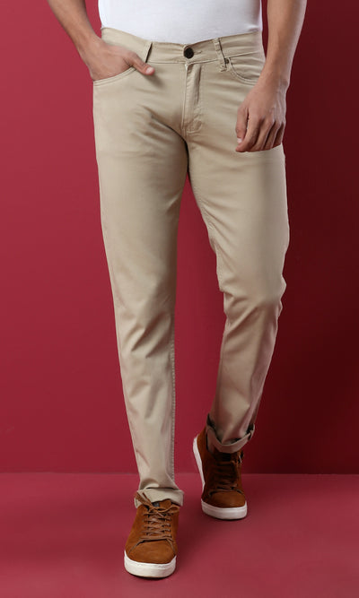 28225 Slim Fit Buttoned Cafe Pant
