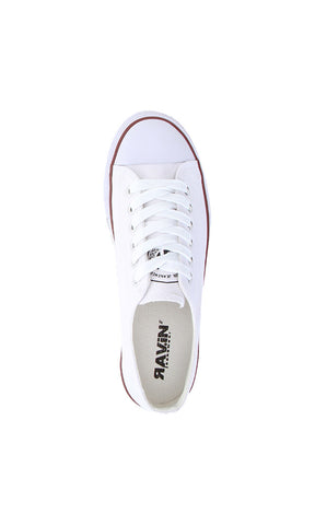 Solid Canvas Sneakers - White