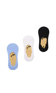 30892 Set Of 3 Invisible Socks - Multicolour