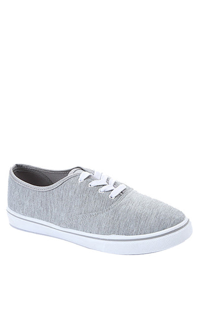 31216 Casual Canvas Sneakers - Heather Light Grey