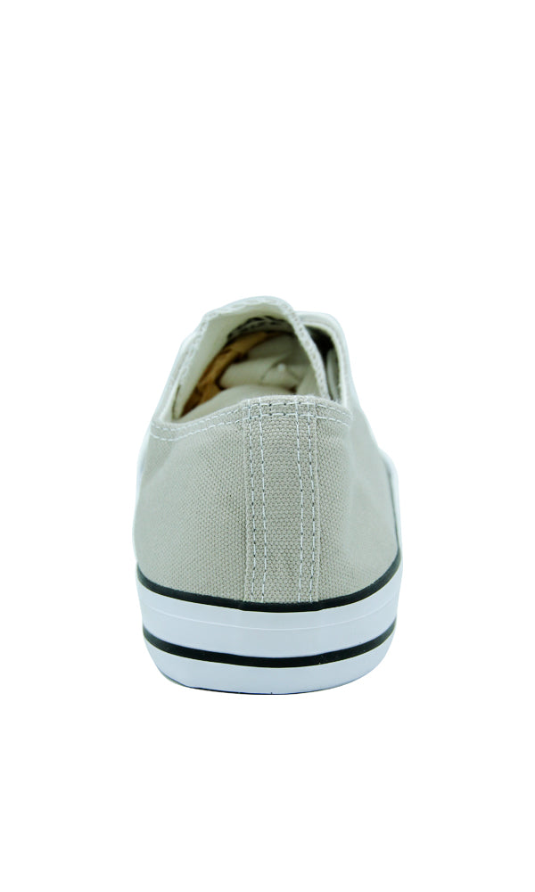 Solid Canvas Sneakers - Beige