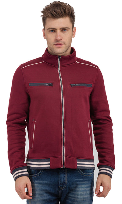 32029 Zippers Sweatshirt - Burgundy