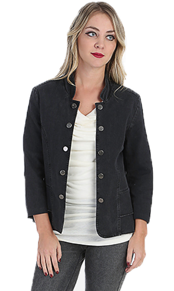 denim layer jacket-double brasted buttons