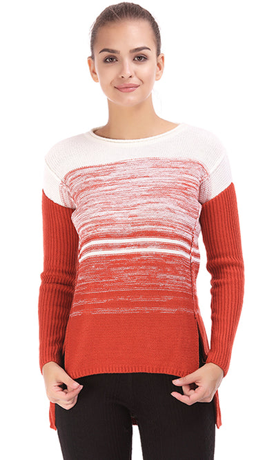 32258 Gradient Sweater - Orange