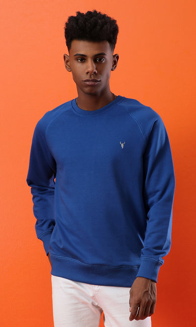 33519 Basic Solid Royal Blue Sweatshirt