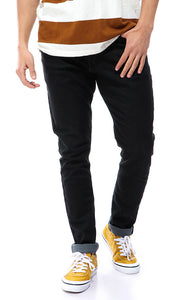 33547 Heather Black Casual Slim Jeans