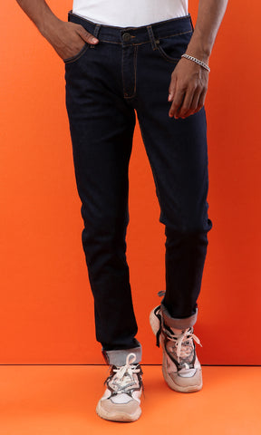 33549 Navy Blue Jeans Skinny Fit Basic Jeans