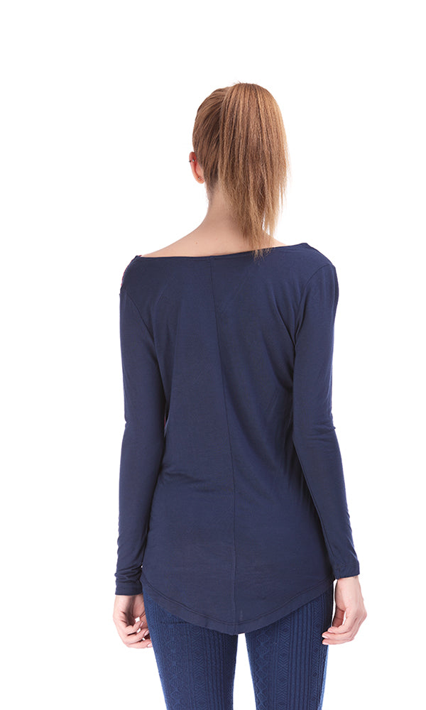 Wrap Front Blouse-Back Knit