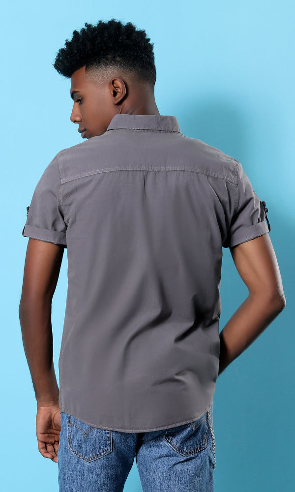 One Pocket Shirt - Taupe