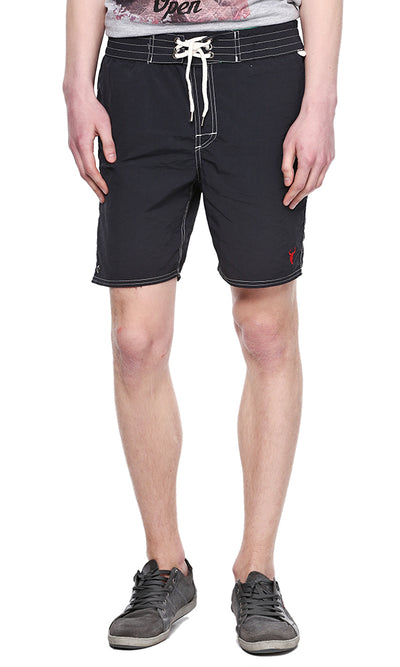 33911 Solid Boardshort - Black