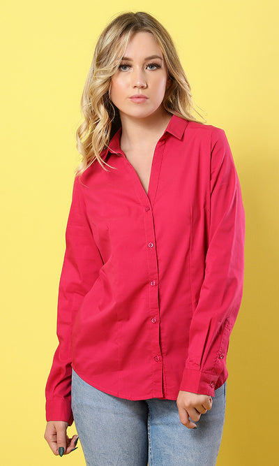 Solid Shirt - Orange - women shirts & blouses