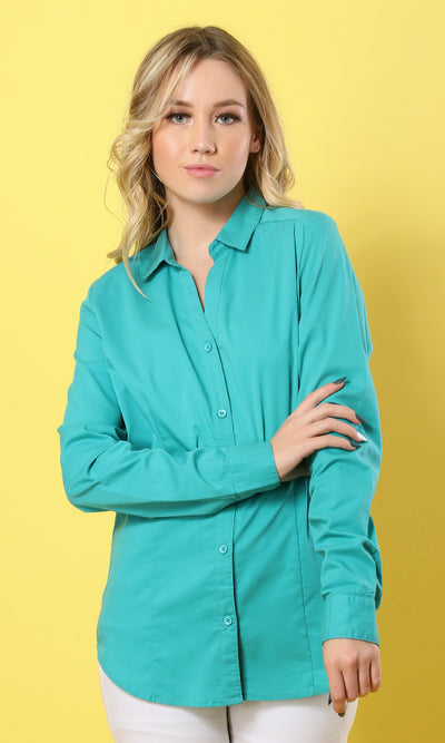 Basic Solid Buttoned Genzary Shirt - women shirts & blouses