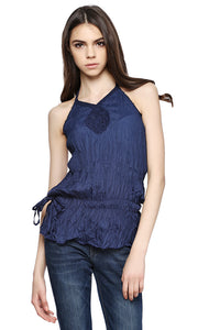 Backless Top - Navy Blue