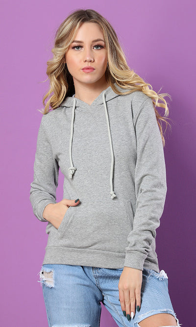 35182 Hooded Basic Sweatshirt - Grey