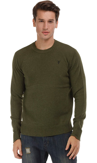 35187 Plain Pullover - Dark Green