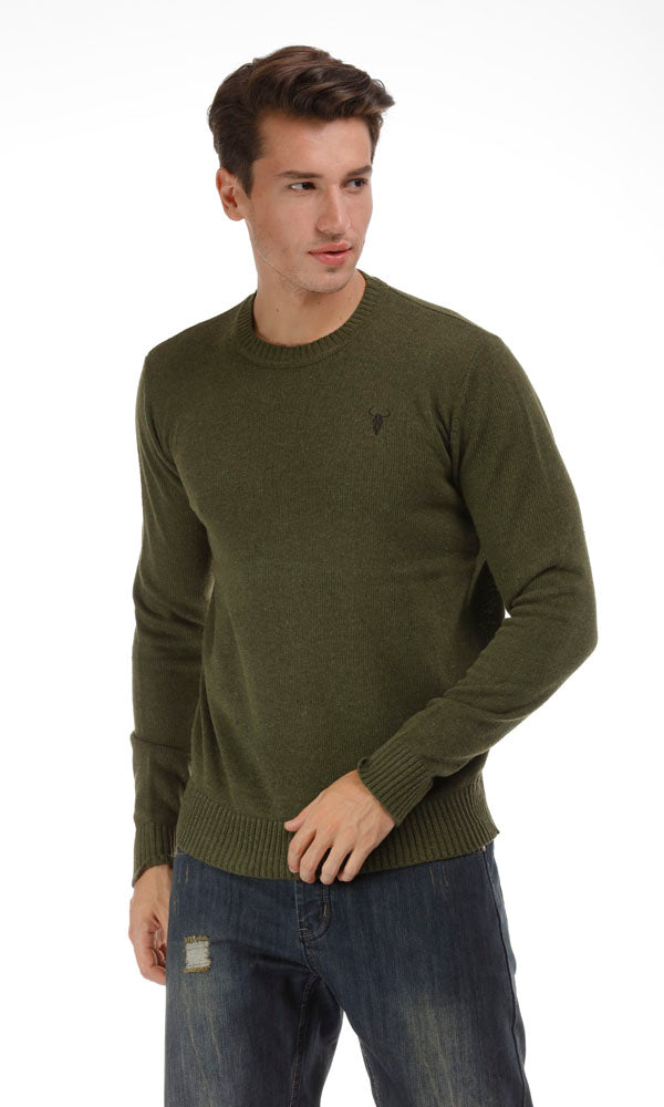 Wool Blend Sweater-Embroideded Logo