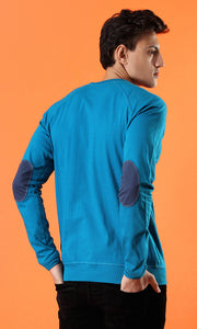 35205 Basic Solid Long Sleeves T-shirt - Dark Turquoise
