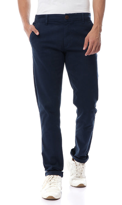 35228 Navy Blue Straight Fit Gabardine Pants