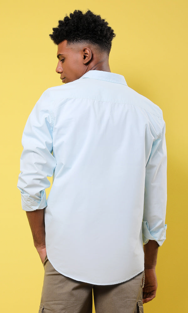 poplin shirt-chest pocket -regular fit