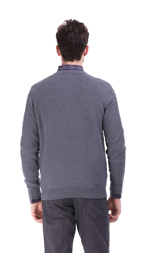 Blend Cable Pullover - Grey