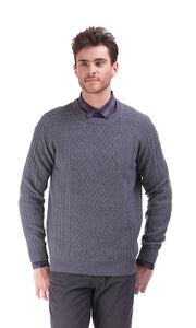 35264 Blend Cable Pullover - Grey