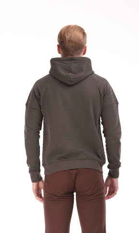 35288 Hooded Sweatshirt - Brown