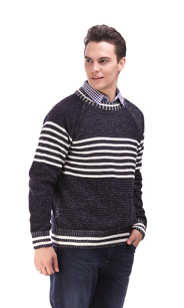 Stripe Sweater-Round Neck