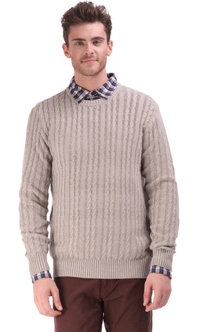 35327 Cables Pullover - Beige