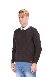 35331 Quilted Sweater - Dark Grey