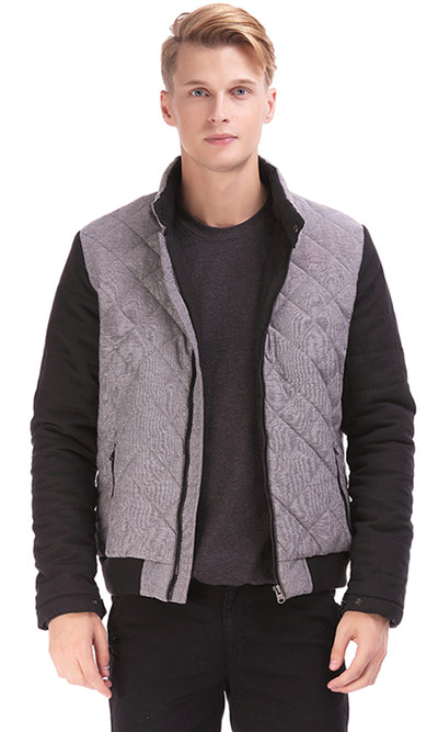 35342 Quilted Jacket - Grey