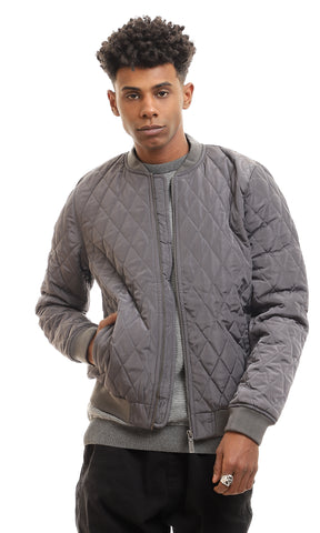 35346 Stitched Bomber Waterproof Olive Zipped Jacket