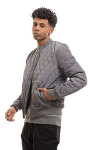 Stitched Bomber Waterproof Olive Zipped Jacket