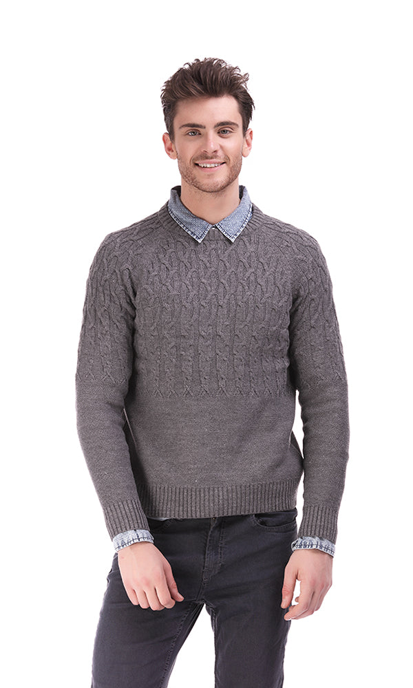Cables Sweater-Round Neck