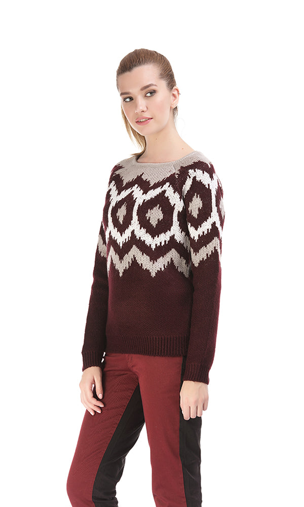 Jacquard Sweater-Round Neck