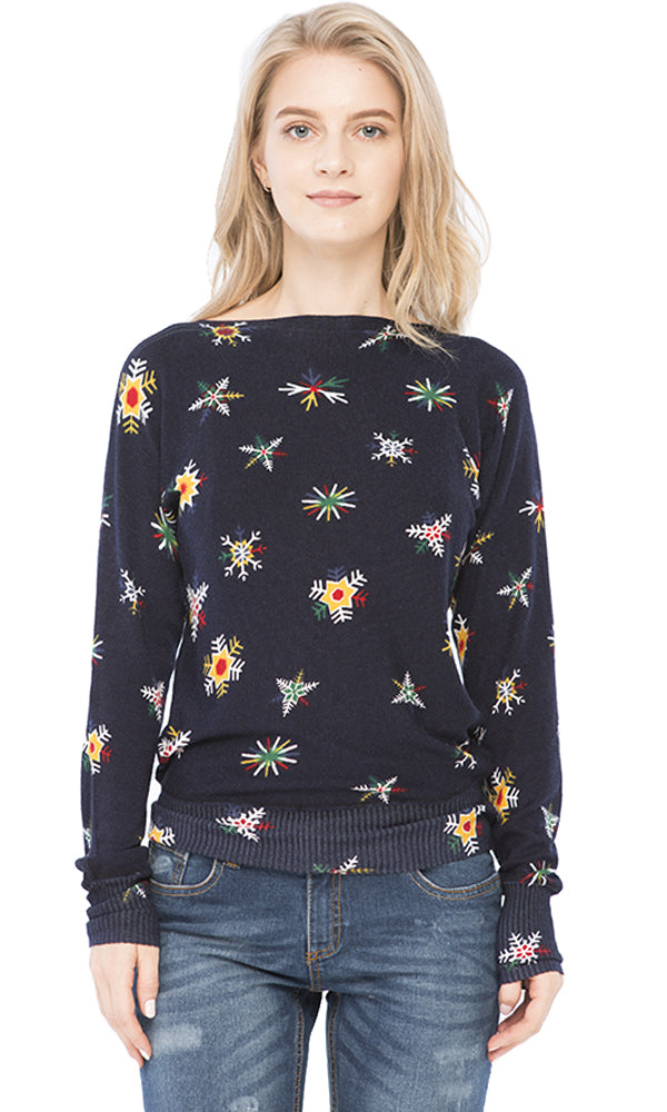 Full Printed Sweater-Round Neck